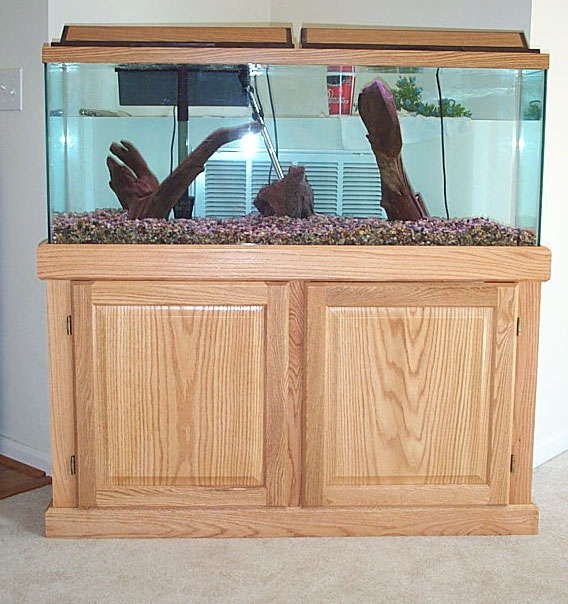 Fish tank with stand and canopy large size of coffee for Wood fish tank stand
